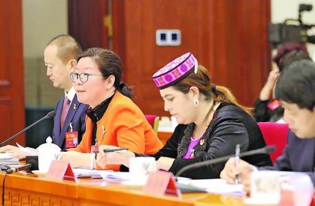 【图片新闻 】十九大新疆代表团围绕十九大报告进行深入讨论