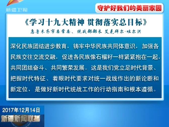 新疆日报刊登署名文明《学习十九大精神 贯彻落实总目标》