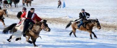 布尔津县雪域运动会激情上演