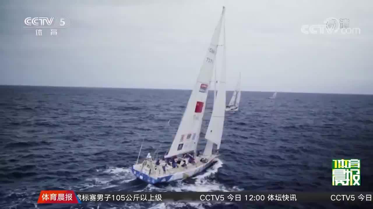 [帆船]三亚新奇世界半山半岛号获第六赛段亚军