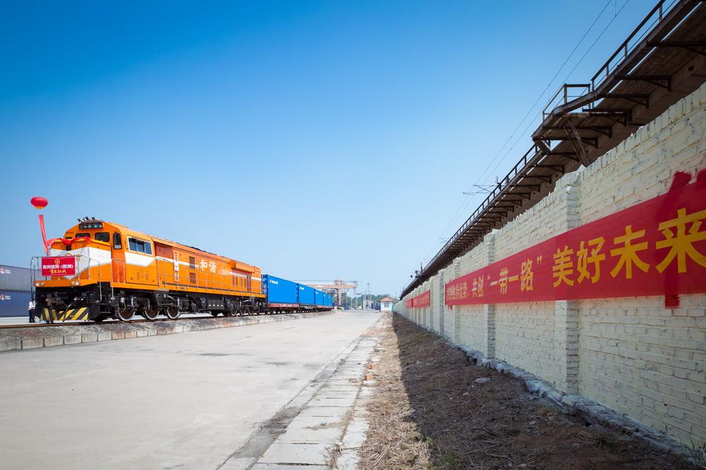 """济南局兖州北站首开中欧""""点对点""""货运班列-新闻中心"""