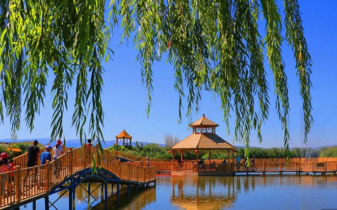 """博湖县:相约中国西海湖畔 享受""""醉美""""自然"""