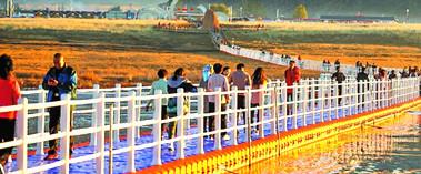 巴里坤湖秋景美