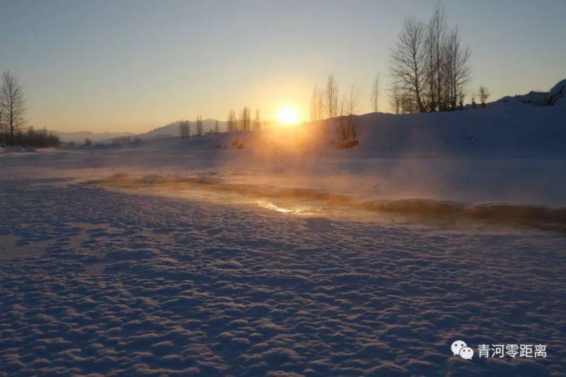 青河河谷冰雾,美景