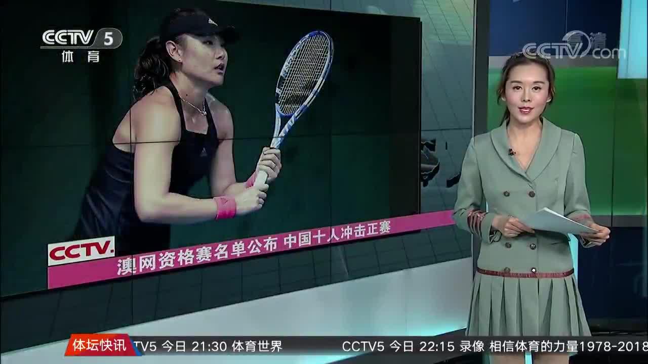[澳网]澳网资格赛名单公布 中国十人冲击正赛