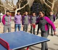 #乒乓球 男女对打
