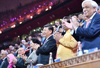 习近平和彭丽媛同外方领导人出席文化嘉年华活动