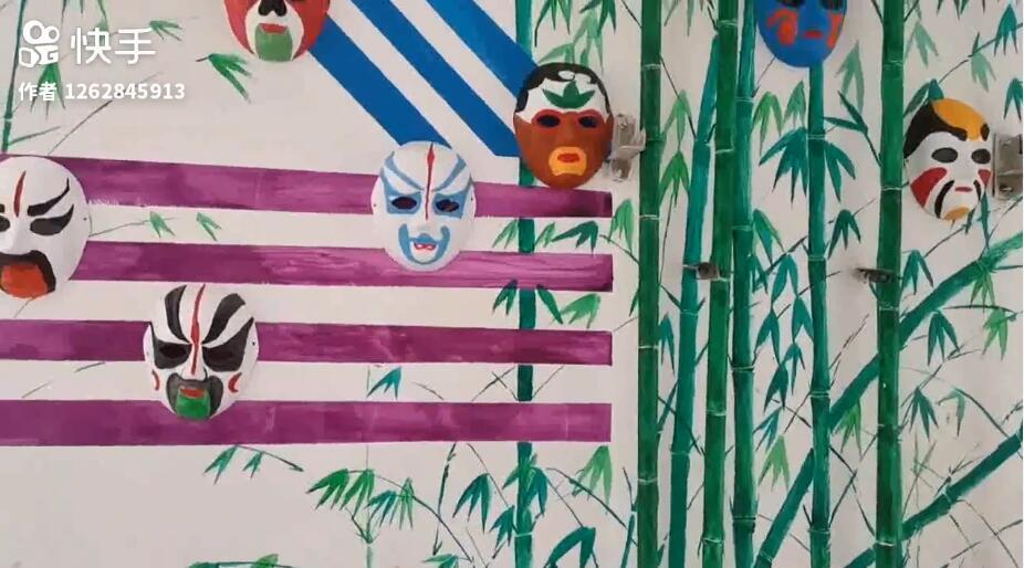 同学们的作品,做成背景墙非常好看