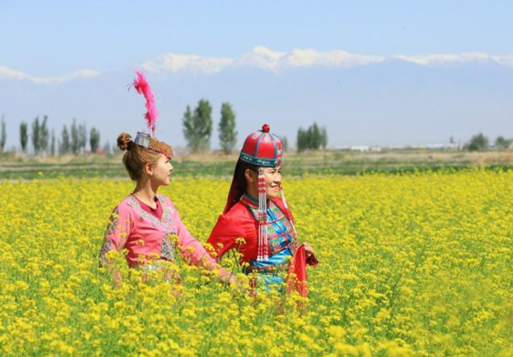 博湖县:恰玛古花开 游客来