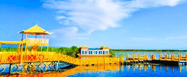 夏游新疆博斯腾湖 尽享湿地风光