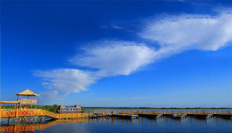 【高清组图】夏游新疆博斯腾湖 尽享湿地风光