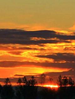 哈巴河縣:漫天的火燒云