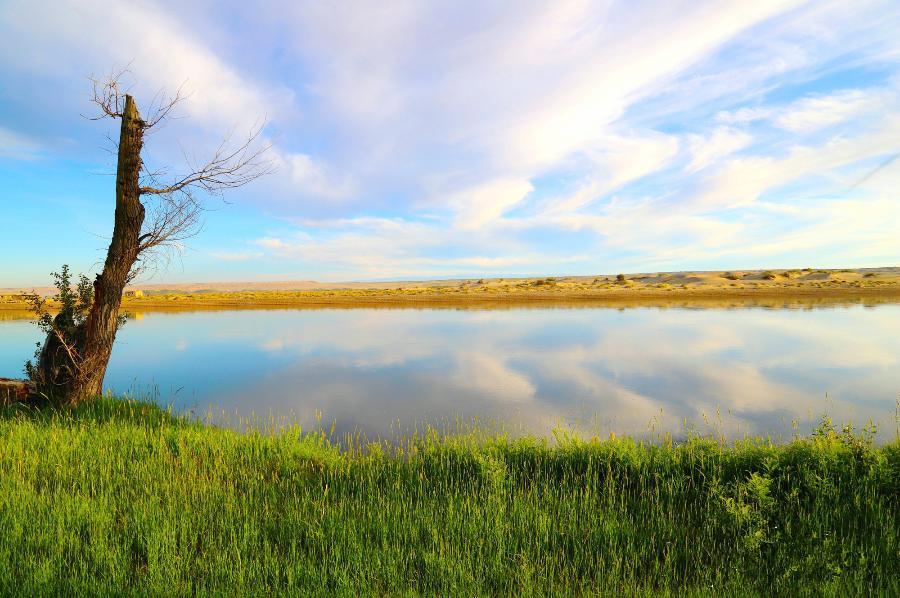 哈巴河县额尔齐斯河畔水天一色风景怡人