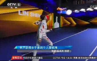 [综合]林声获得击剑世锦赛女子重剑个人赛银牌