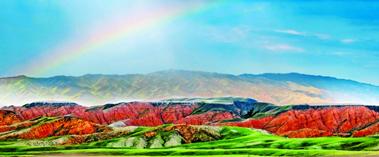 新疆丹霞,大自然打翻的调色盘