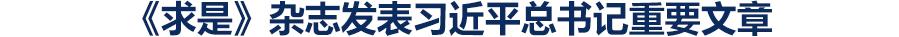 """《求是》雜志發表習近平總書記重要文章  《在解決""""兩不愁三保障""""突出問題座談會上的講話》"""