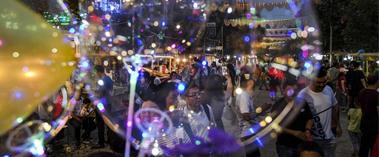 美食荟萃的喀什夜市