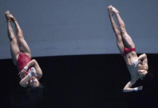 跳水——亚洲杯:中国选手获混合双人10米台冠军