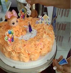 这是我做的蛋糕 好不好看