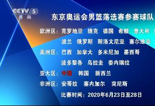 [篮球]东京奥运男篮落选赛名单公布 中国男篮在列