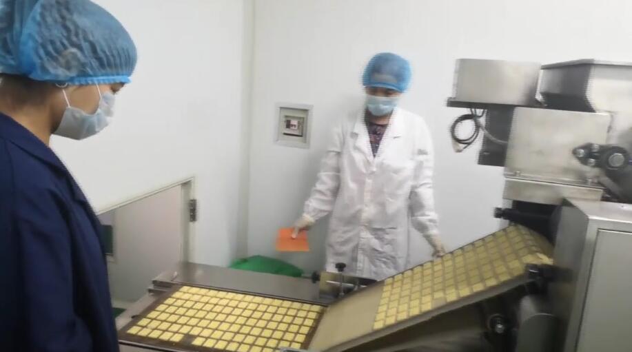 结业学员在食品加工厂工作