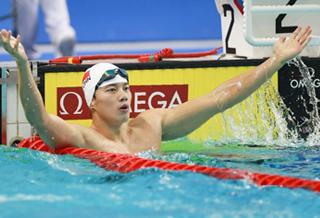男子200米个人混合泳:中国选手汪顺获得金牌