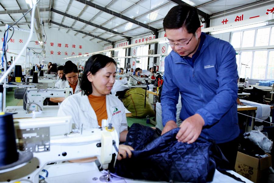 庫車縣:服裝企業帶動就業