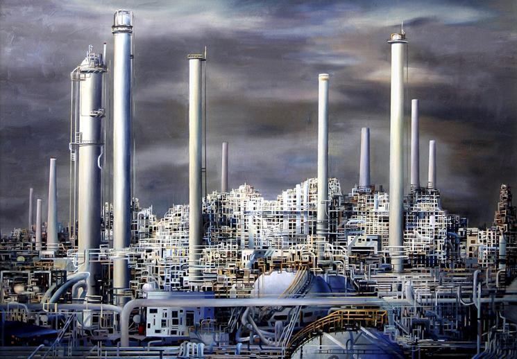 新疆石油画家付剑锋 他把管子画成了大片