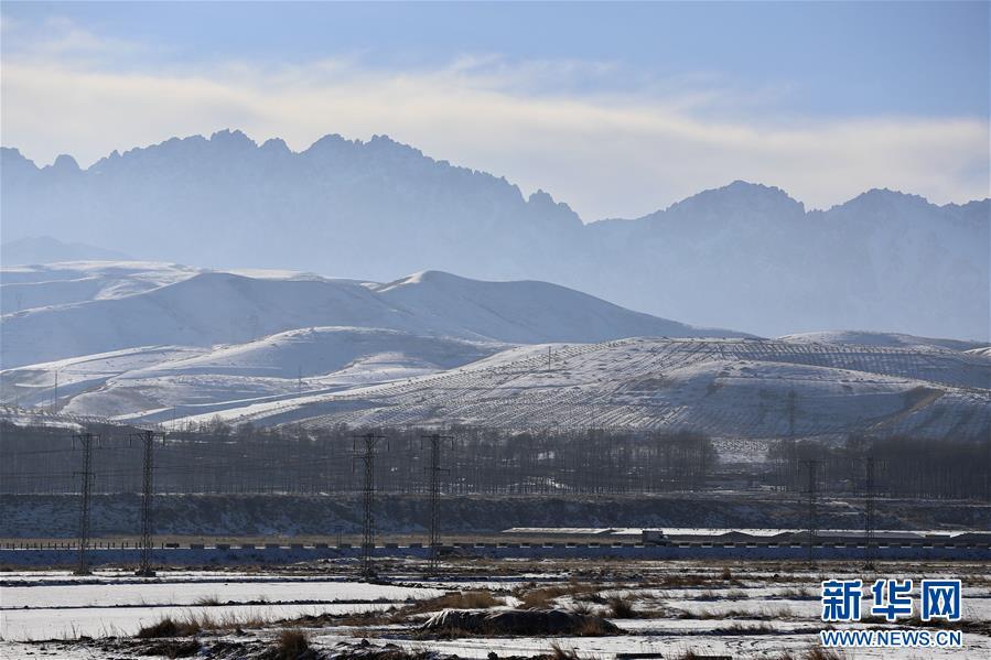 (美丽中国)(2)祁连山下冬景如画