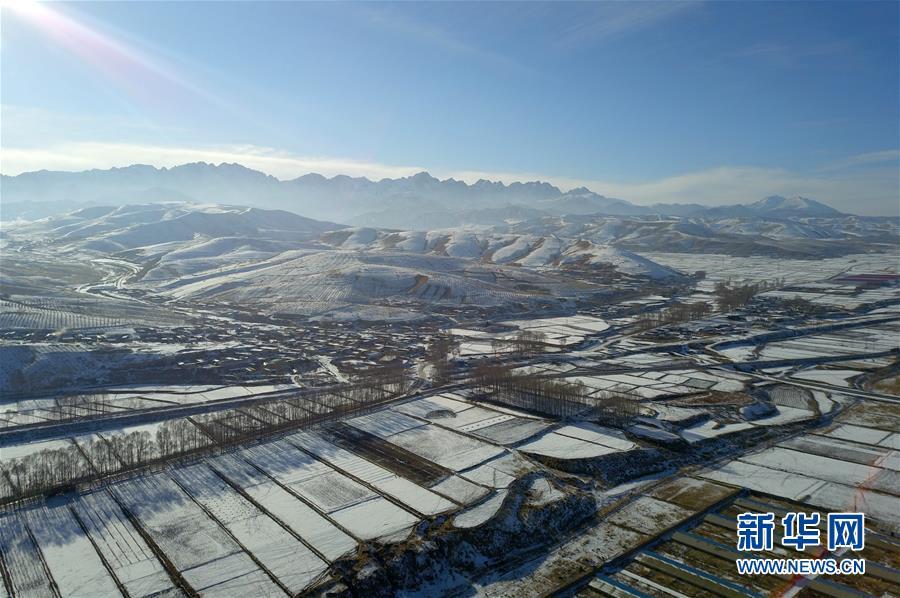 (美丽中国)(5)祁连山下冬景如画