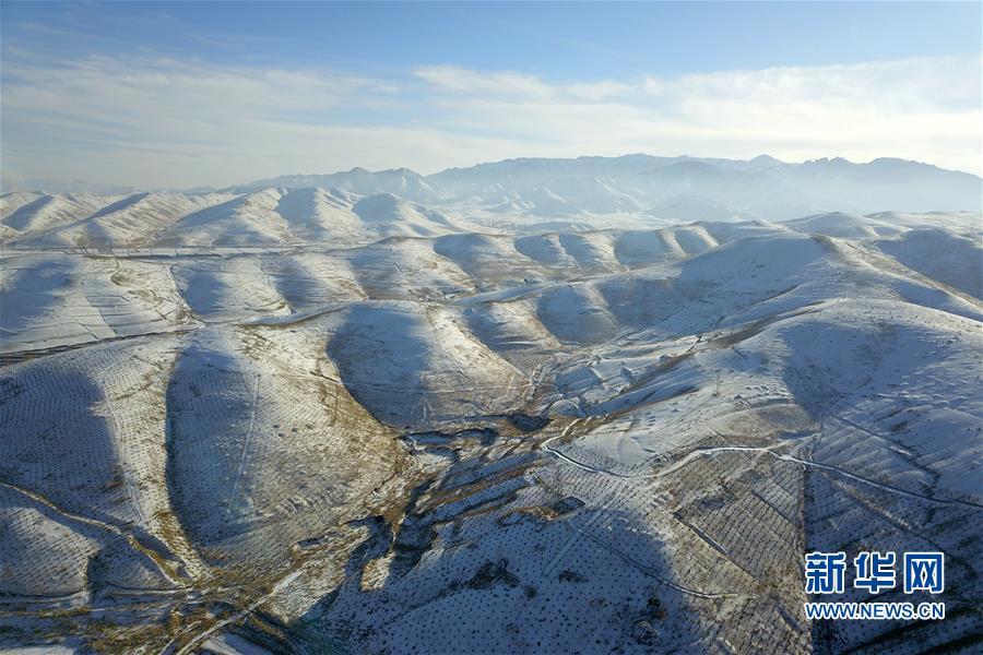 (美丽中国)(6)祁连山下冬景如画