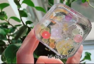 蜜桃甜心起泡胶VS糖果玻璃泥