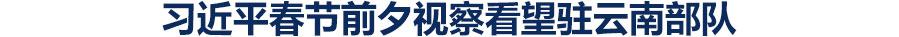 习近平春节前夕视察看望驻云南部队 向全体人民解放军指战员武警部队官兵民兵预备役人员致以新春祝福