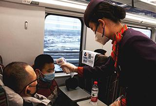 記者體驗火車出行:乘車三測體溫,每小時一消毒