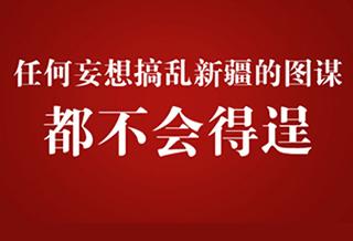 反暴恐 反分裂 新疆事务纯属中国内政