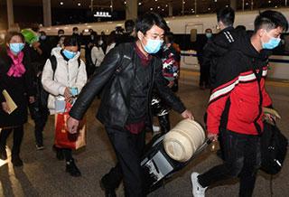 全國鐵路首趟定制務工人員返程專列抵達杭州