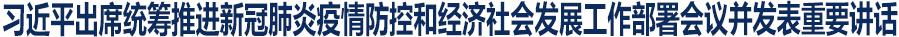 习近平出席统筹推进新冠肺炎疫情防控和经济社会发展工作部署会议并发表重要讲话