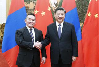 习近平同蒙古国总统巴特图勒嘎会谈