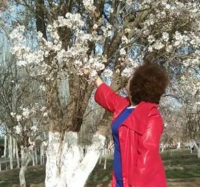 和花合个影,美丽的花和我