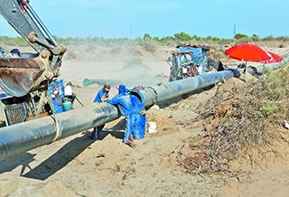 轮库输气管道项目施工