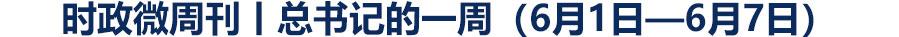 时政微周刊丨总书记的一周(6月1日—6月7日)