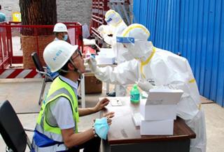 北京:项目工地开展核酸检测