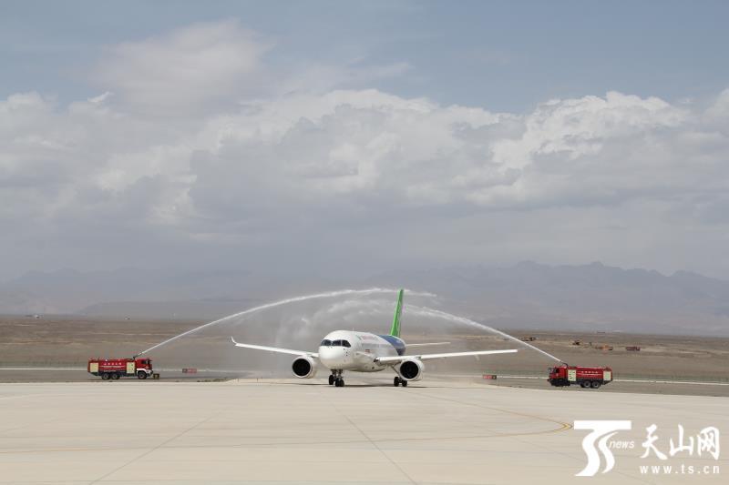 国产大飞机C919飞抵吐鲁番挑战高温-天山网