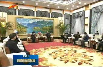 陈全国会见参加全国精神文明建设表彰大会的新疆代表