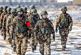 武警新疆总队某支队:冰天雪地,恶劣环境练兵忙