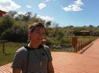 艾萨江在这里的公园上班
