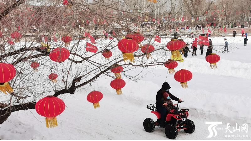 乌鲁木齐市各大公园春节假期接待游客7