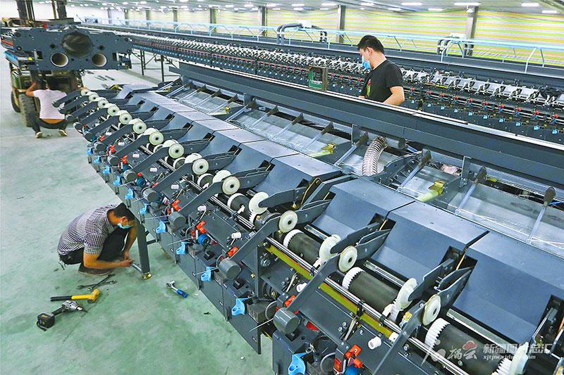 新疆厚立新增一条织布生产线
