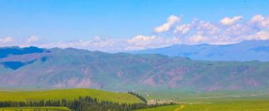山青草绿云为伴